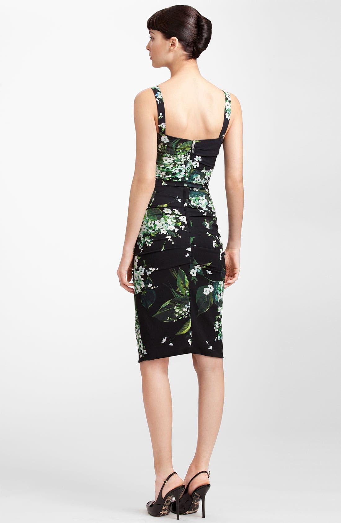 Alternate Image 2  - Dolce&Gabbana Lily Print Stretch Cady Dress