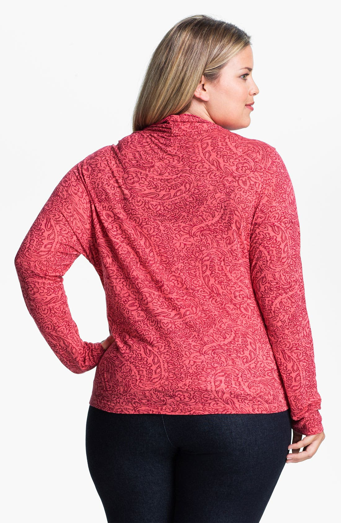 Alternate Image 2  - Lucky Brand Paisley Faux Wrap Top (Plus)