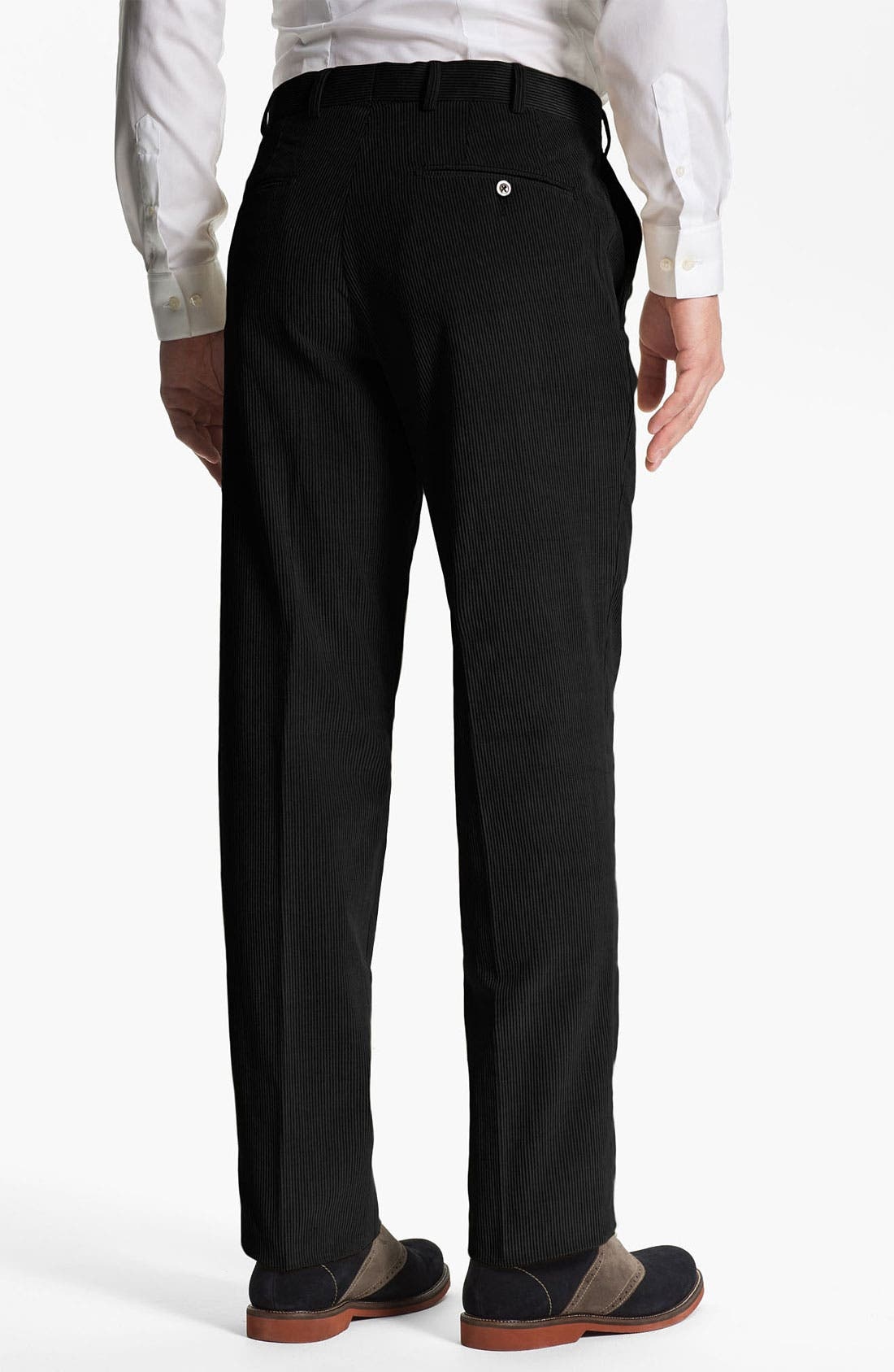 Alternate Image 2  - JB Britches Flat Front Corduroy Trousers