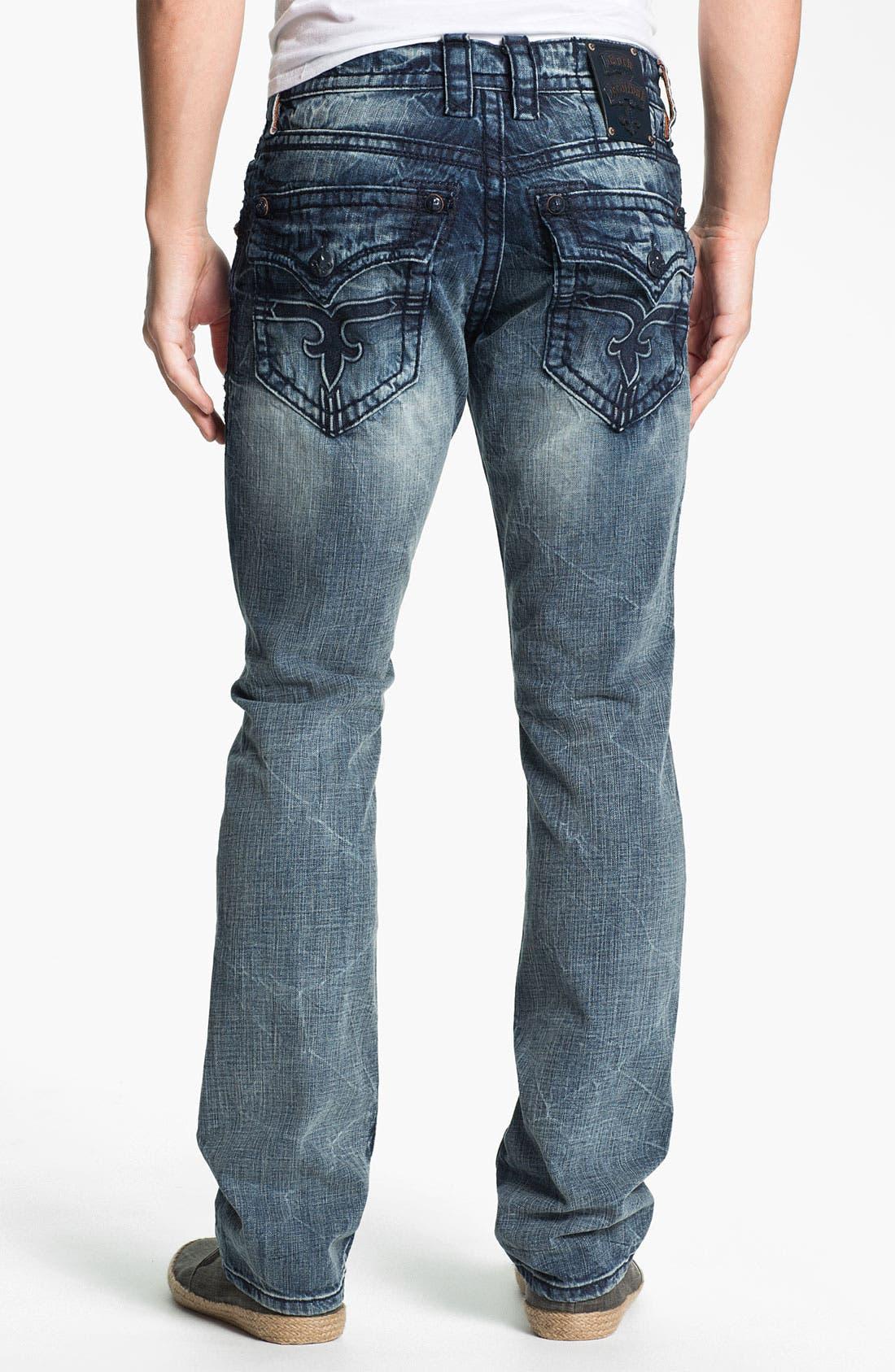 Alternate Image 1 Selected - Rock Revival 'Dain' Straight Leg Jeans (Light Blue)