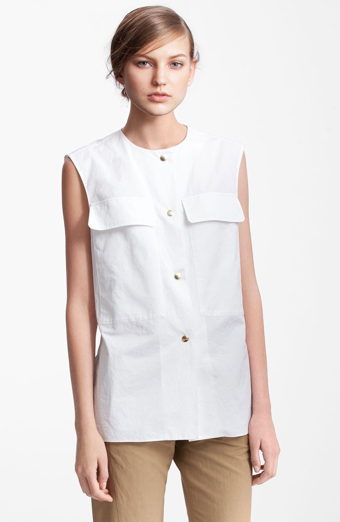 Alternate Image 1 Selected - Marni Edition Patch Pocket Gabardine Shirt