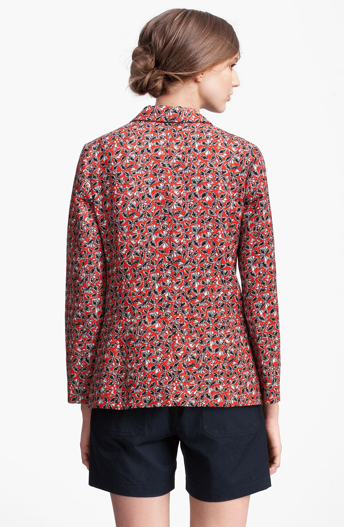 Alternate Image 2  - Marni Edition Leaf Print Linen Blend Jacket