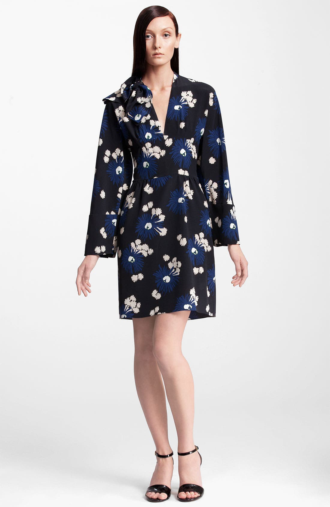 Main Image - Marni Floral Print Silk Dress