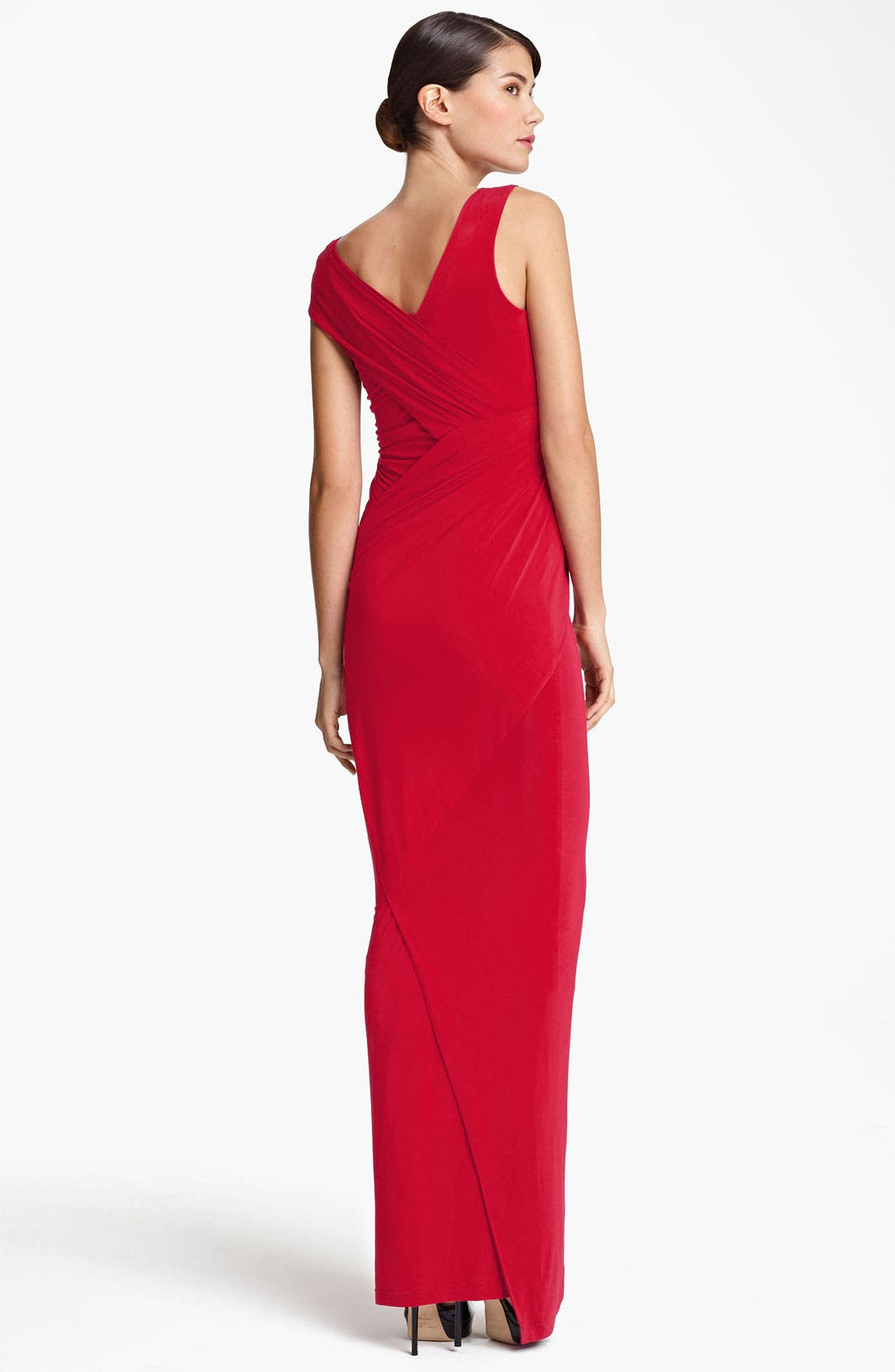Alternate Image 2  - Donna Karan Collection Cap Sleeve Jersey Gown
