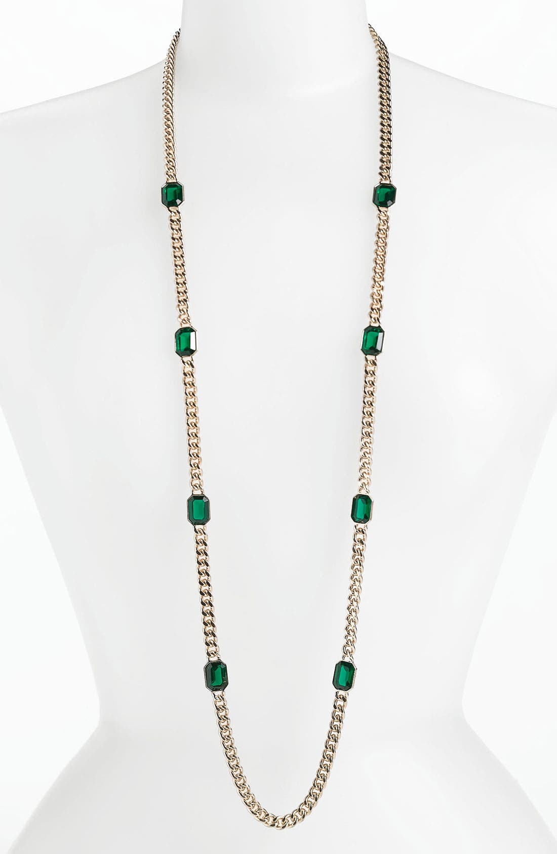 Alternate Image 1 Selected - Anne Klein Long Station Necklace