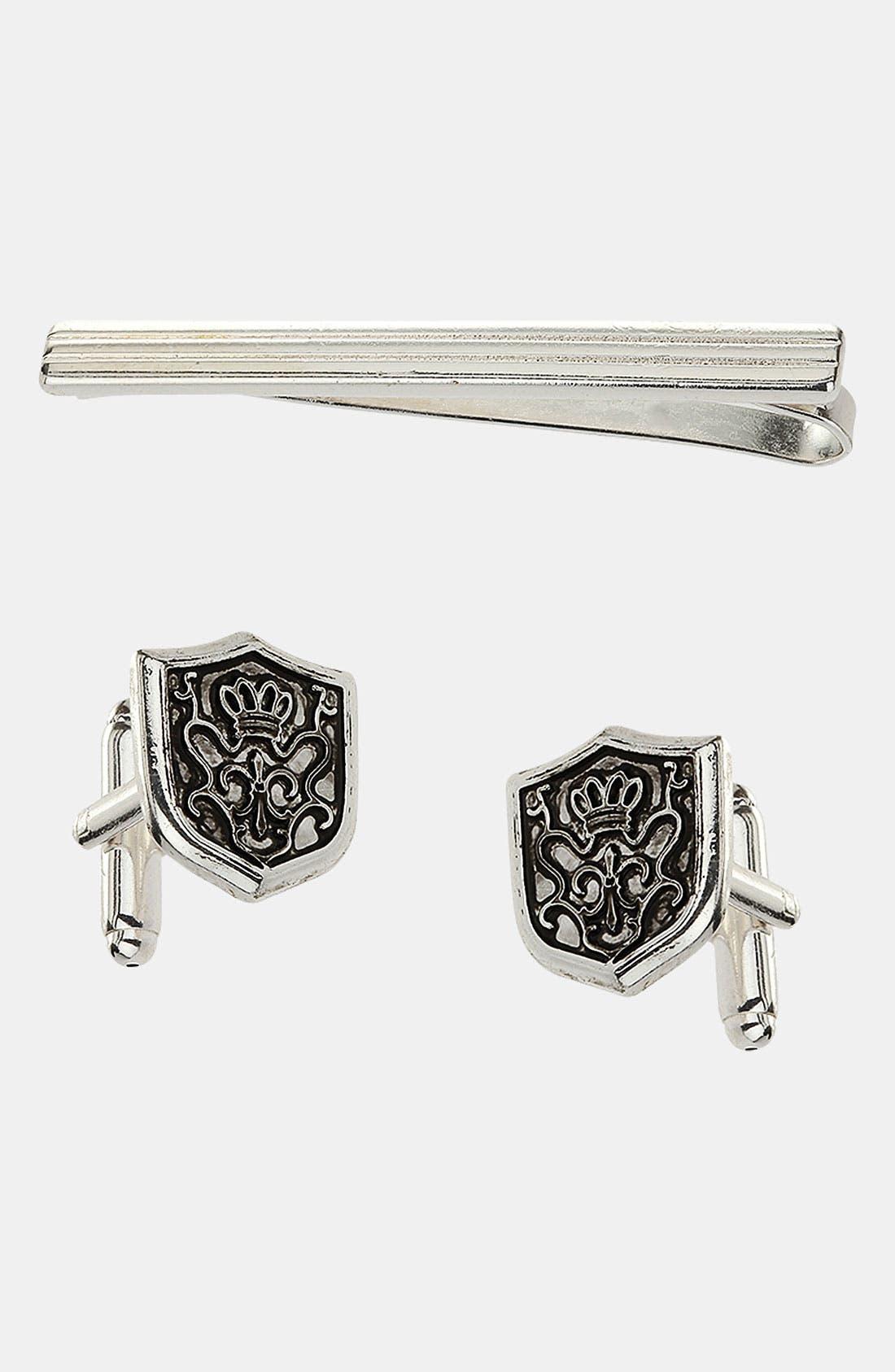 Main Image - Topman Cuff Links & Tie Bar Set