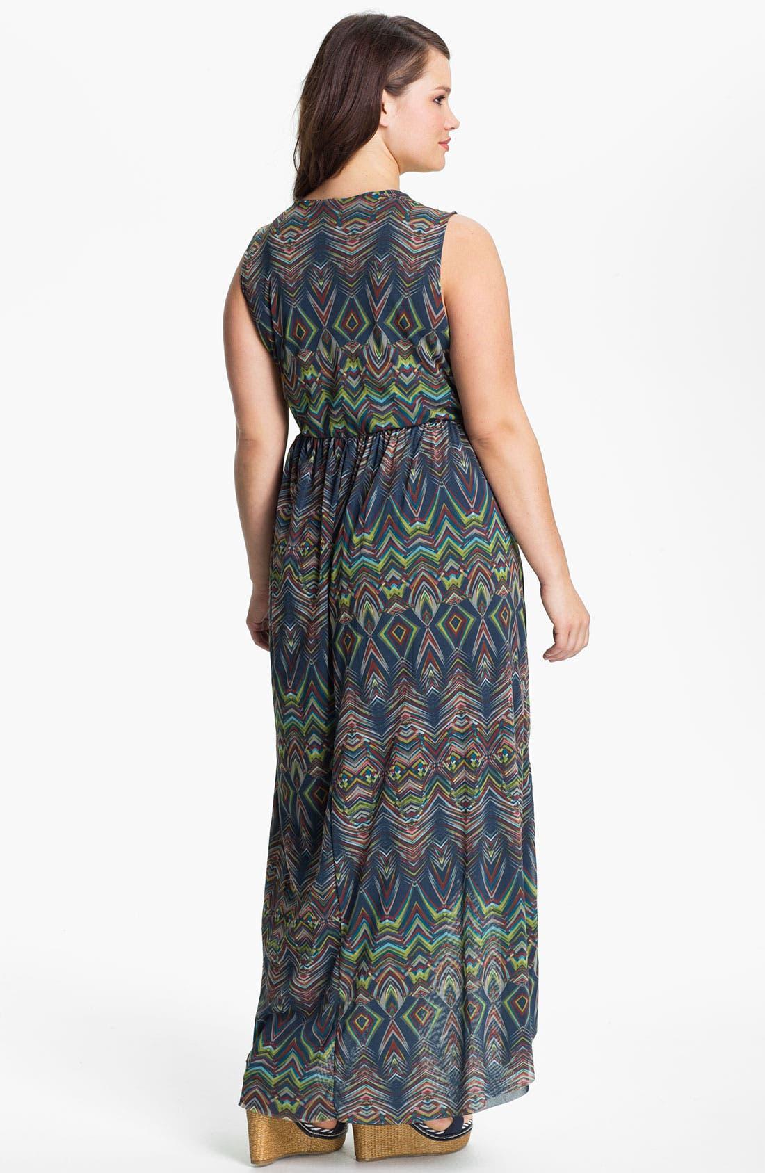 Alternate Image 2  - Sweet Pea by Stacy Frati Sleeveless Asymmetrical Dress (Plus)