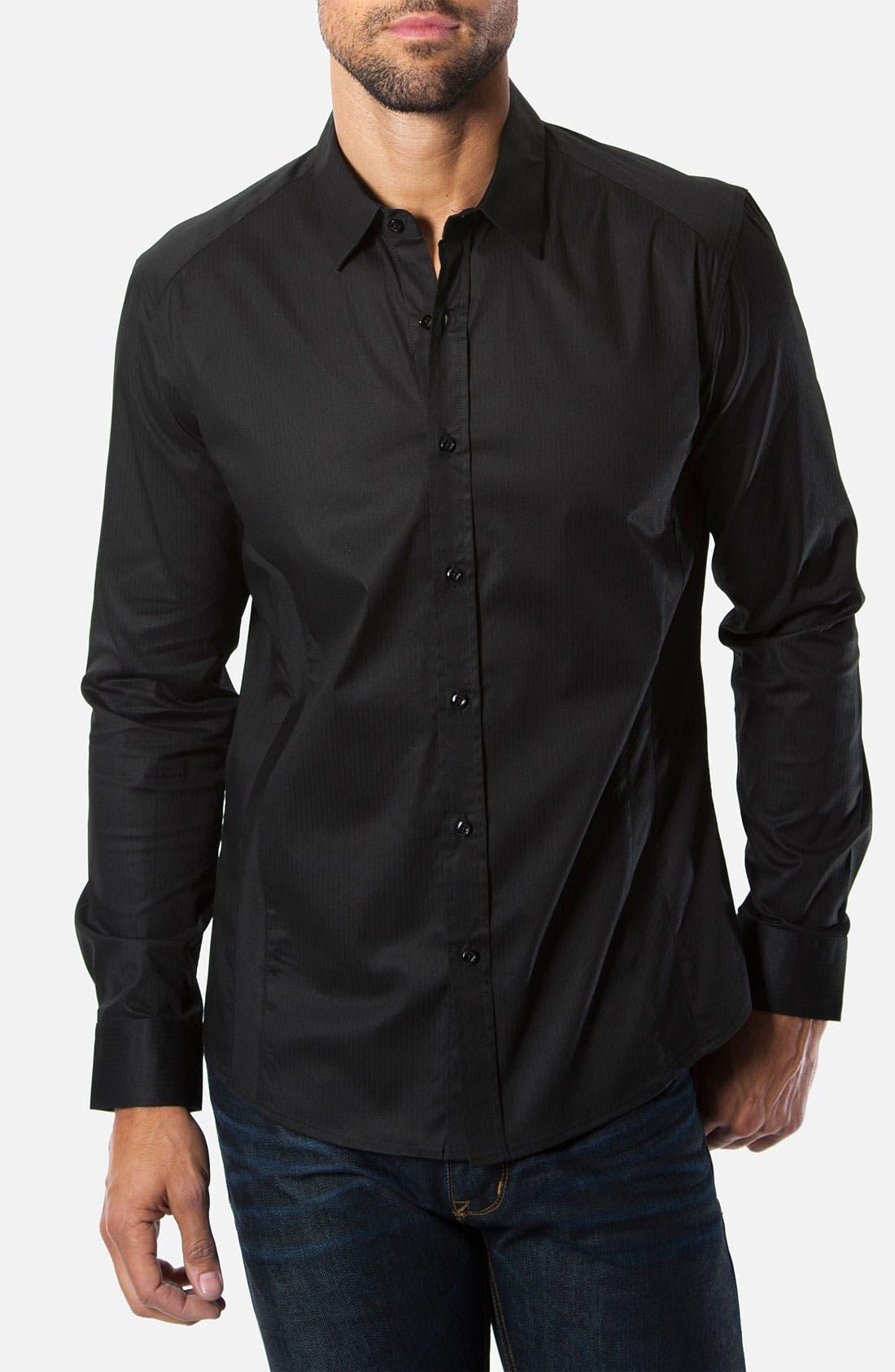 Alternate Image 1 Selected - 7 Diamonds 'Diamond Eyes' Trim Fit Cotton Blend Sport Shirt