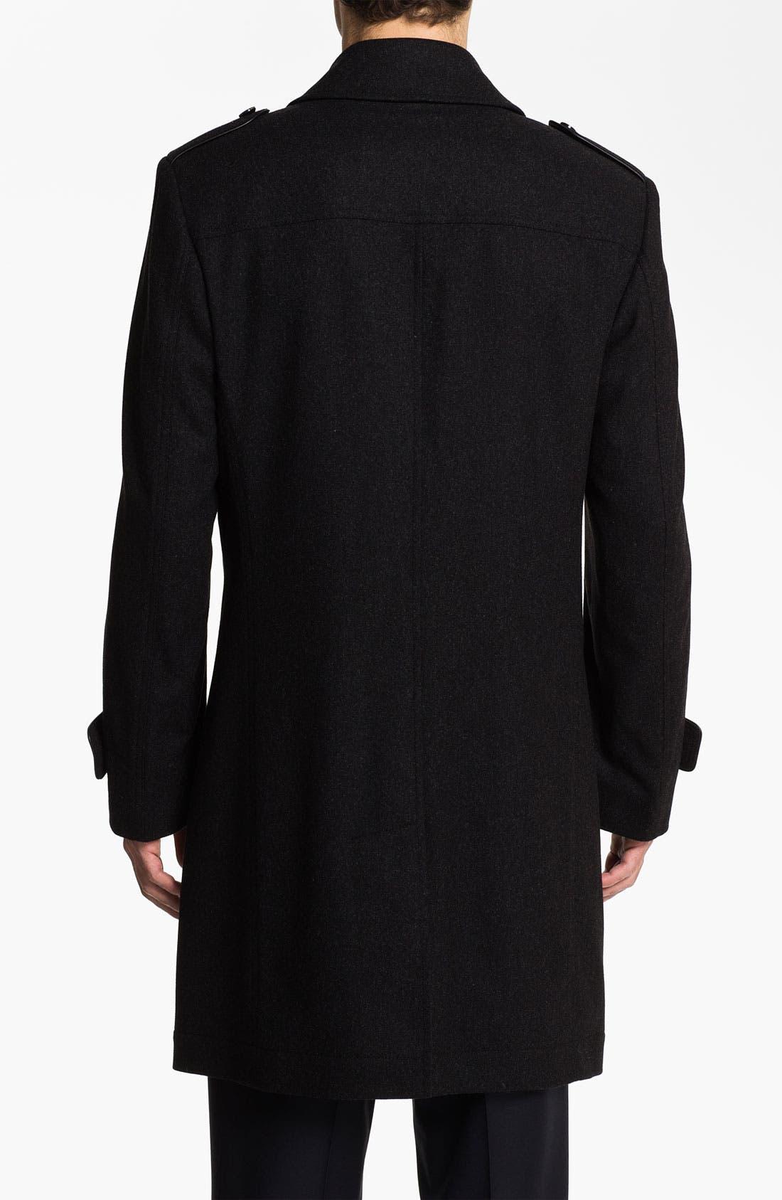 Alternate Image 2  - BOSS Black 'Husk' Double Breasted Topcoat