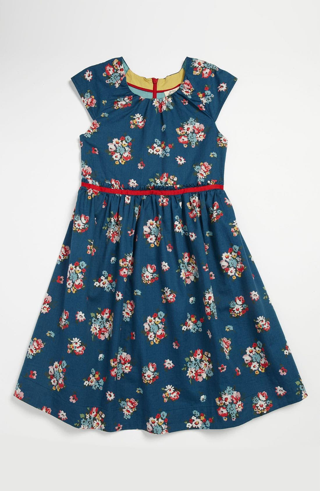 Main Image - Mini Boden Vintage Print Party Dress (Little Girls & Big Girls)