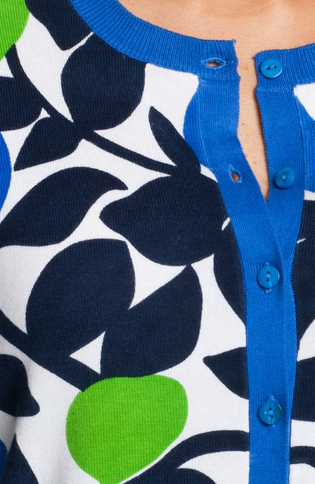 Alternate Image 3  - Foxcroft Leaf Print Cardigan