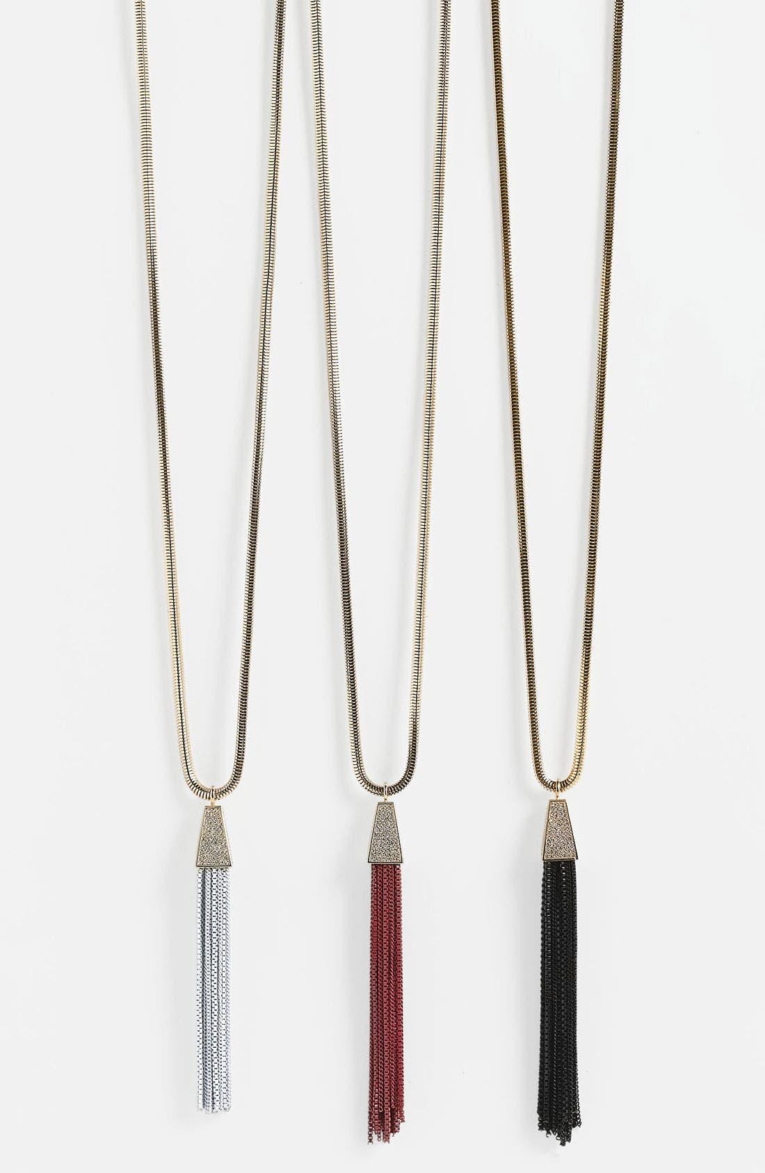 Main Image - Vince Camuto 'Deco' Tassel Pendant Necklace