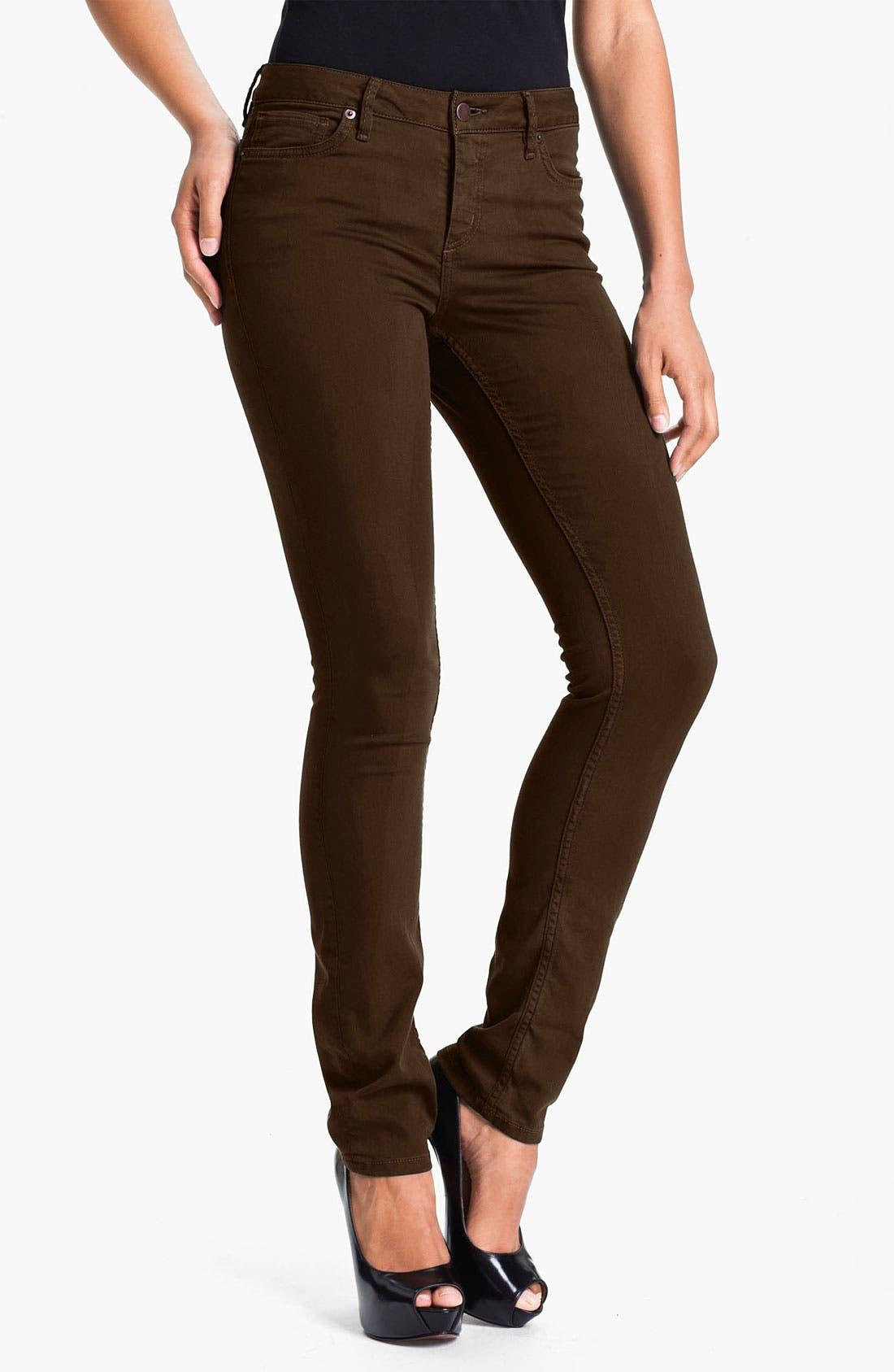 Main Image - Christopher Blue 'Sophia' Twill Skinny Jeans