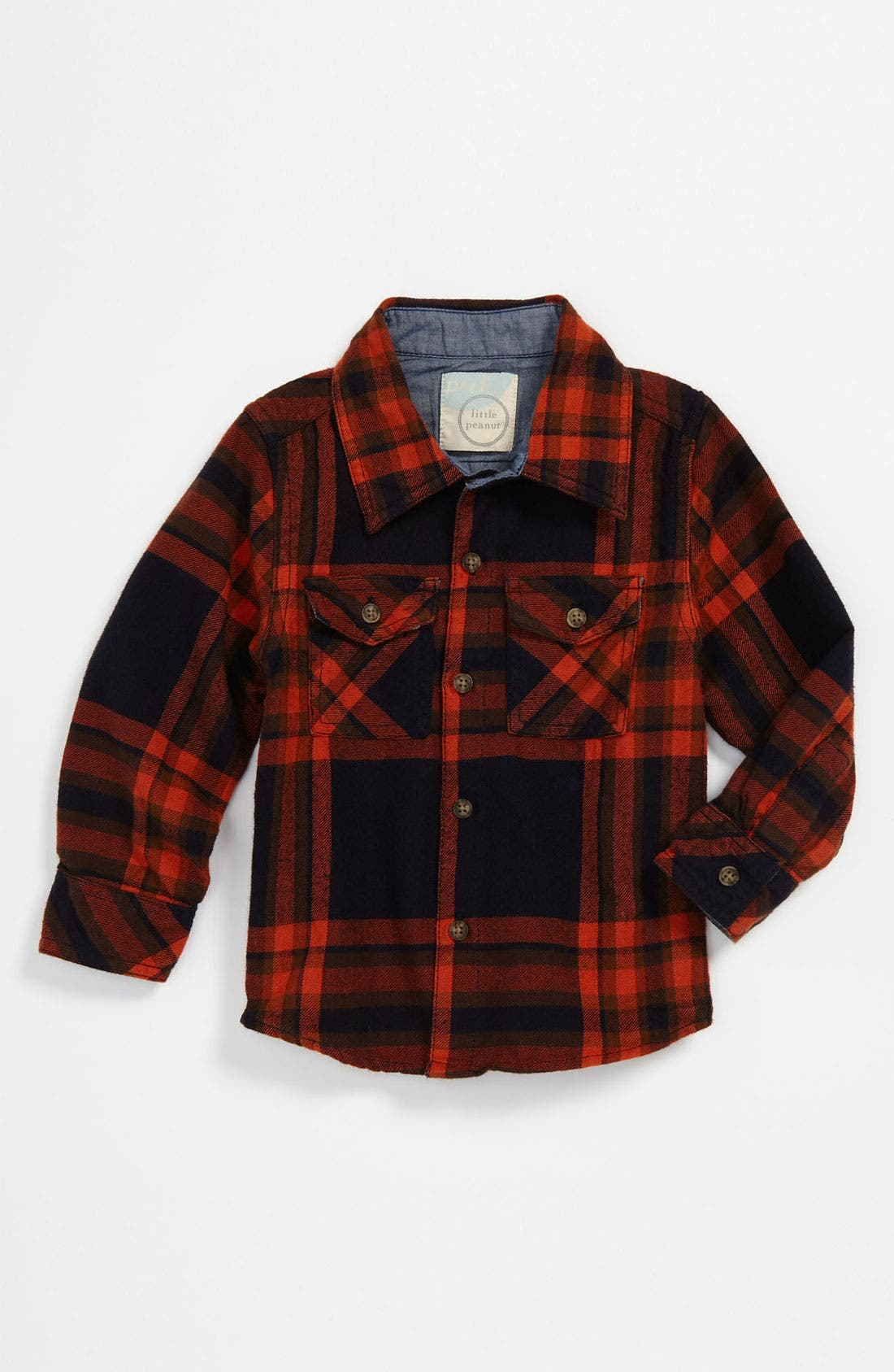 Main Image - Peek 'Big Horn' Plaid Shirt (Infant)