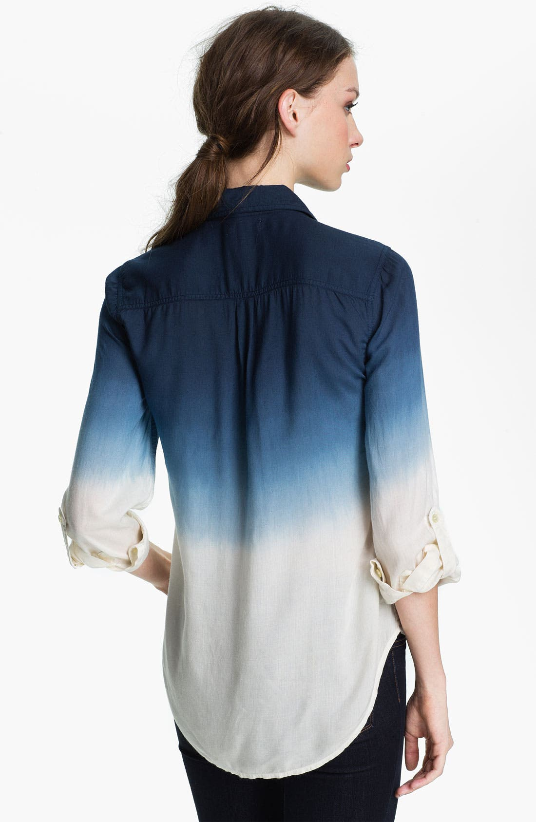 Alternate Image 2  - Lucky Brand 'Brooke' Dip Dye Shirt