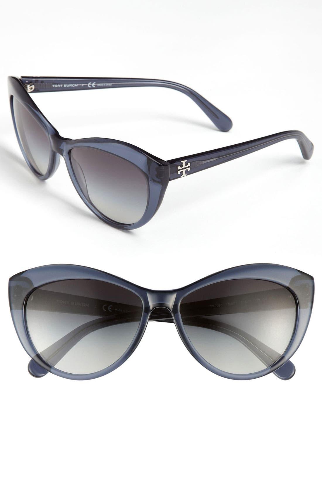 Main Image - Tory Burch 56mm Cat Eye Sunglasses
