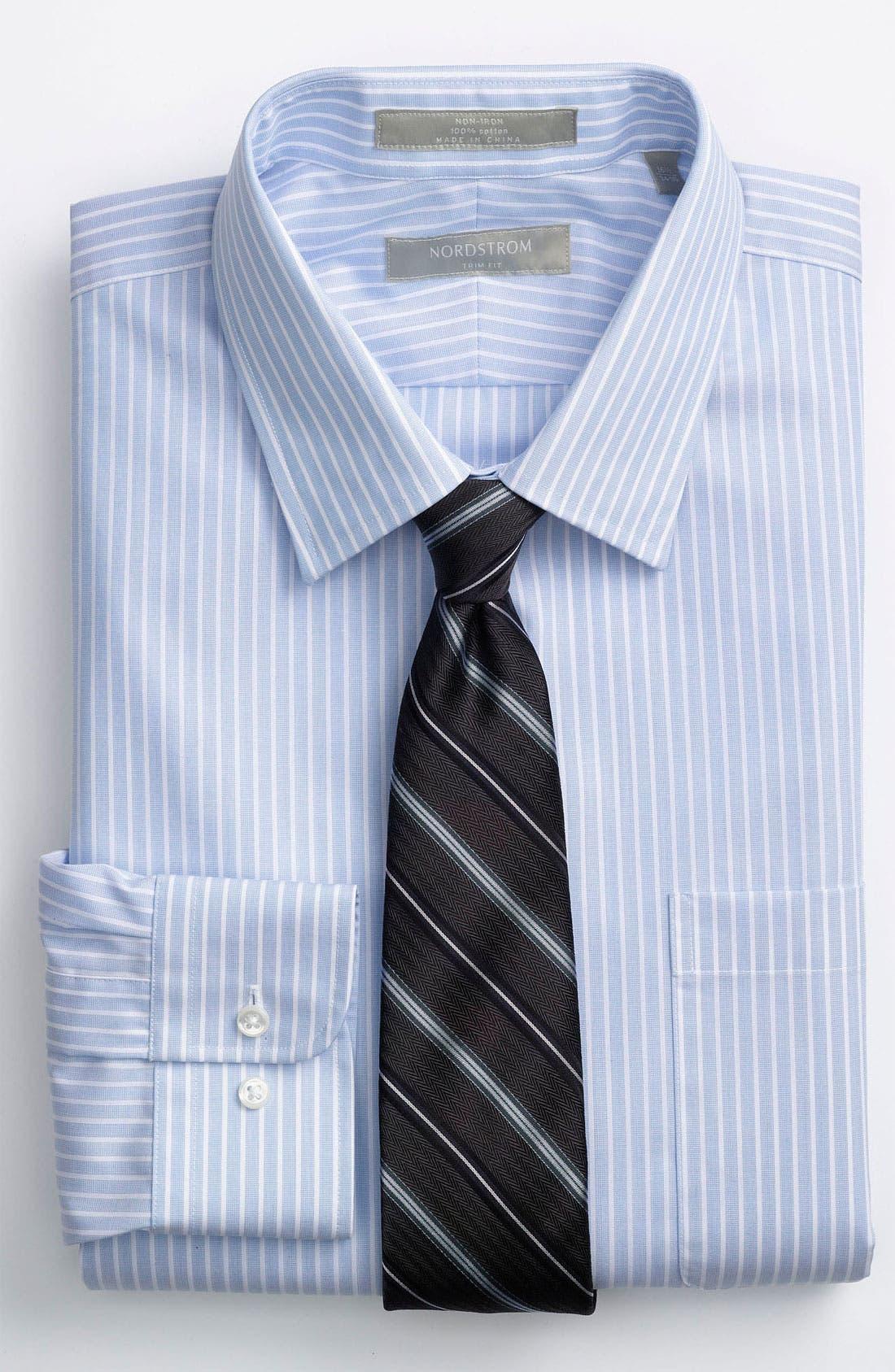 Alternate Image 2  - Nordstrom Trim Fit Non-Iron Dress Shirt (Online Exclusive)