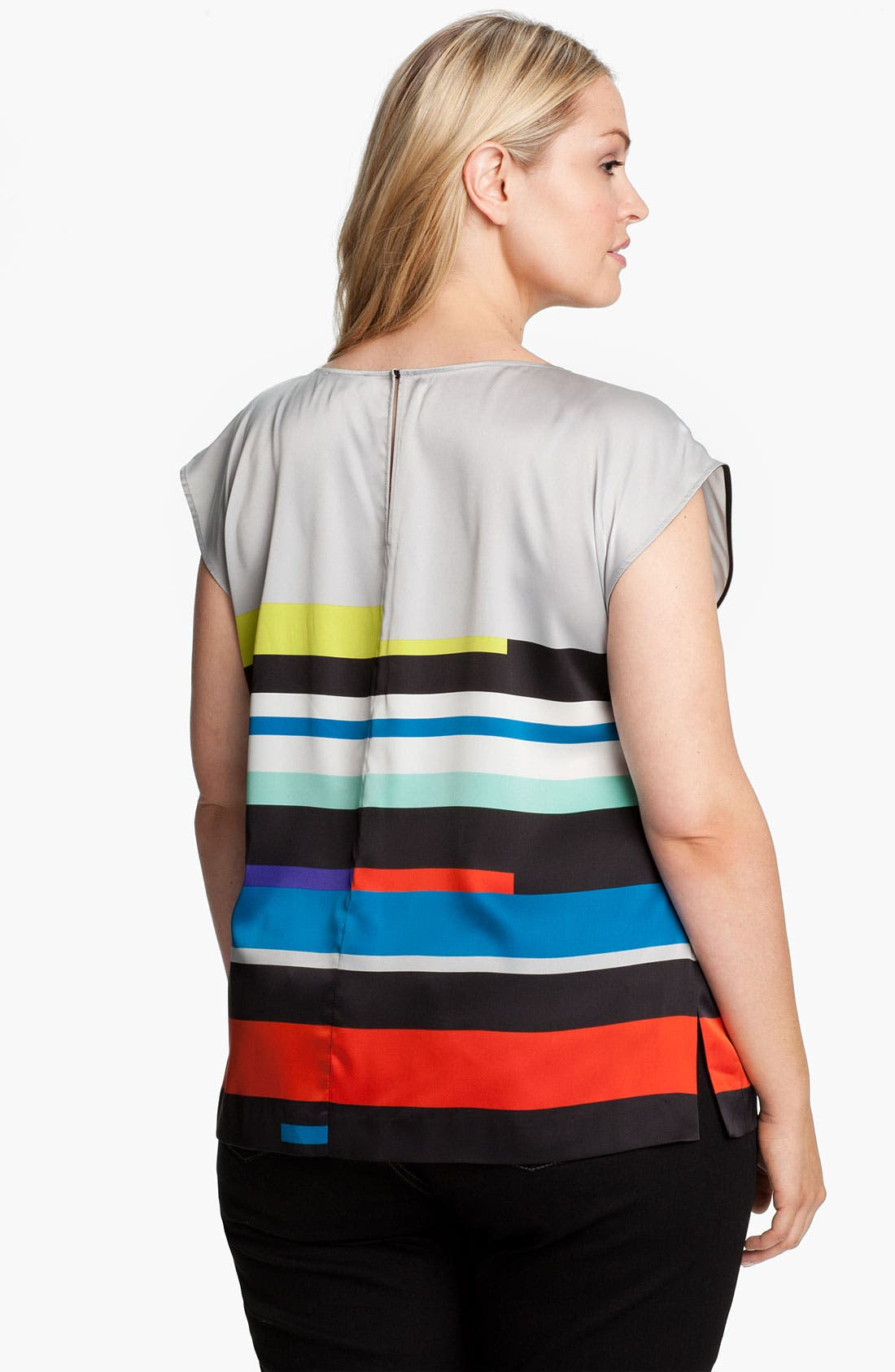 Alternate Image 2  - Vince Camuto 'Graphic Lines' Blouse (Plus)