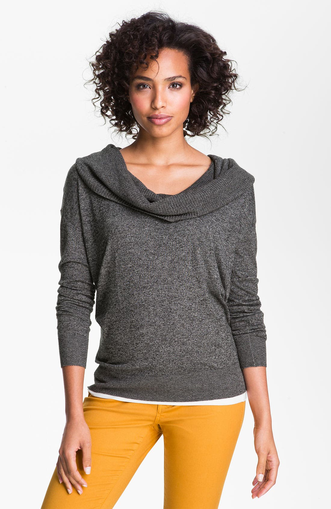 Alternate Image 1 Selected - Caslon® Cowl Neck Sweater (Petite)