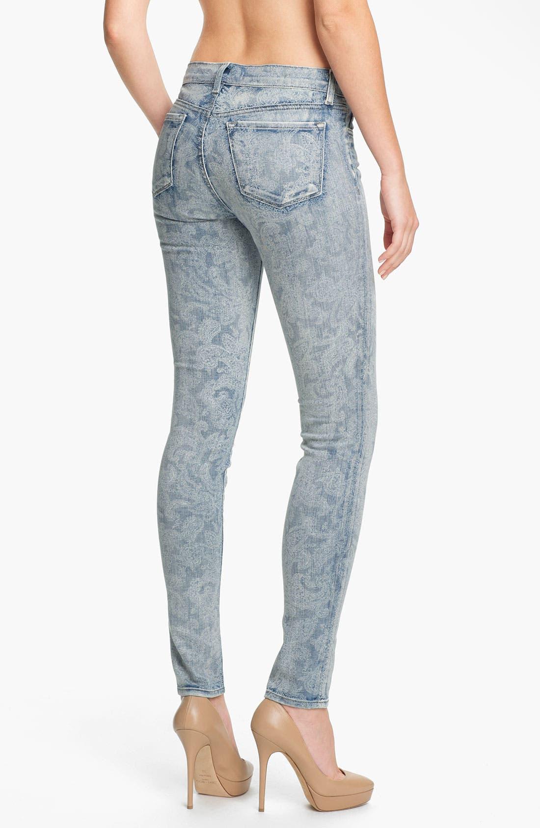 Alternate Image 2  - J Brand Print Skinny Leg Jeans (Vintage Bandana)