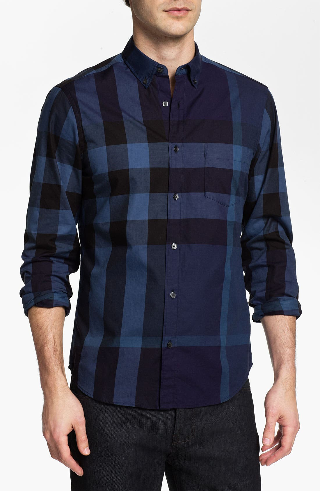 Main Image - Burberry Fred Check Sport Shirt