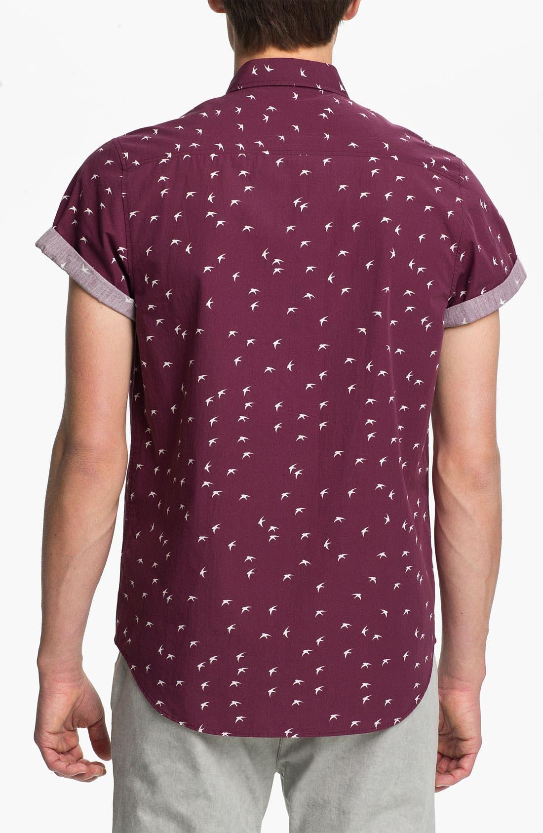 Alternate Image 2  - Topman Swallow Print Woven Shirt