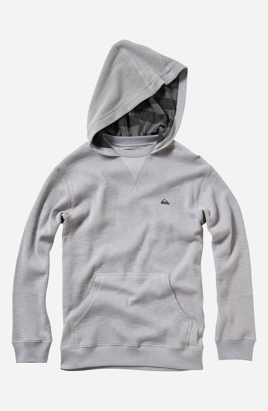 Main Image - Quiksilver 'Calder' Waffle Knit Hoodie (Big Boys)