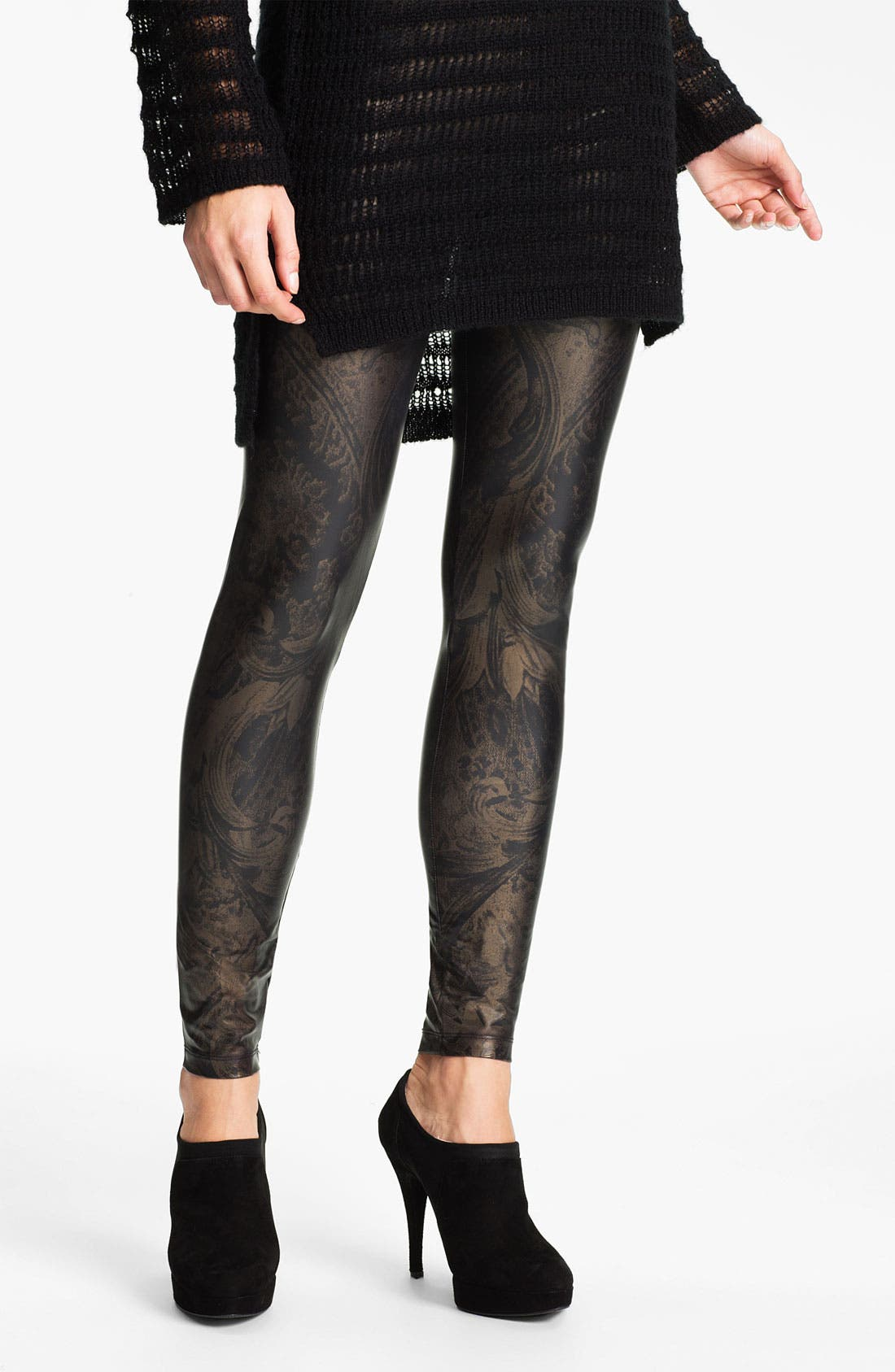 Alternate Image 1 Selected - Hot Sox 'Lusso' Foil Print Leggings