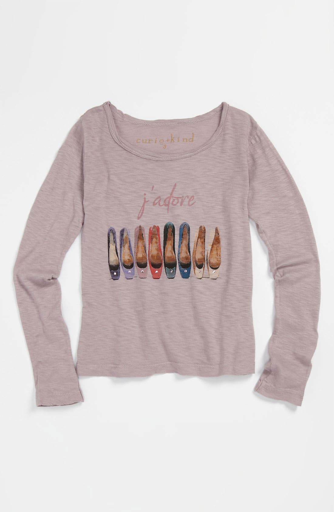 Main Image - Curio+Kind Embellished Long Sleeve Tee (Toddler)