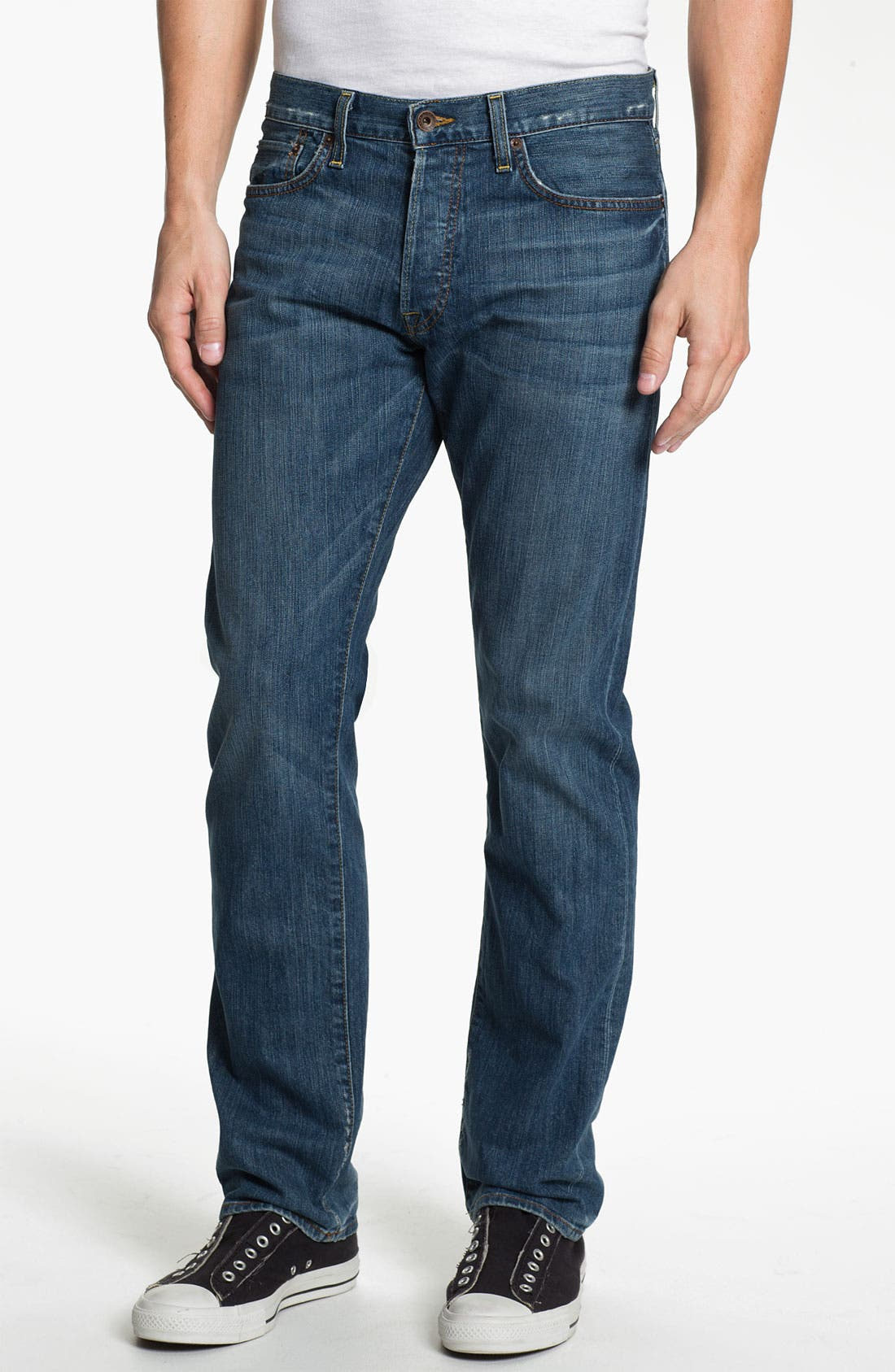 Alternate Image 1 Selected - Lucky Brand '121 Heritage' Slim Straight Leg Jeans (Ol' Vicksburg)