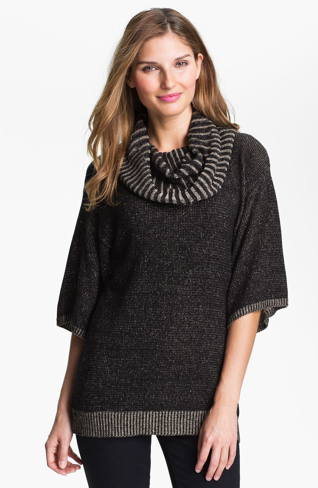 Alternate Image 1 Selected - Fever Cowl Neck Three Quarter Sleeve Sweater (Online Exclusive)