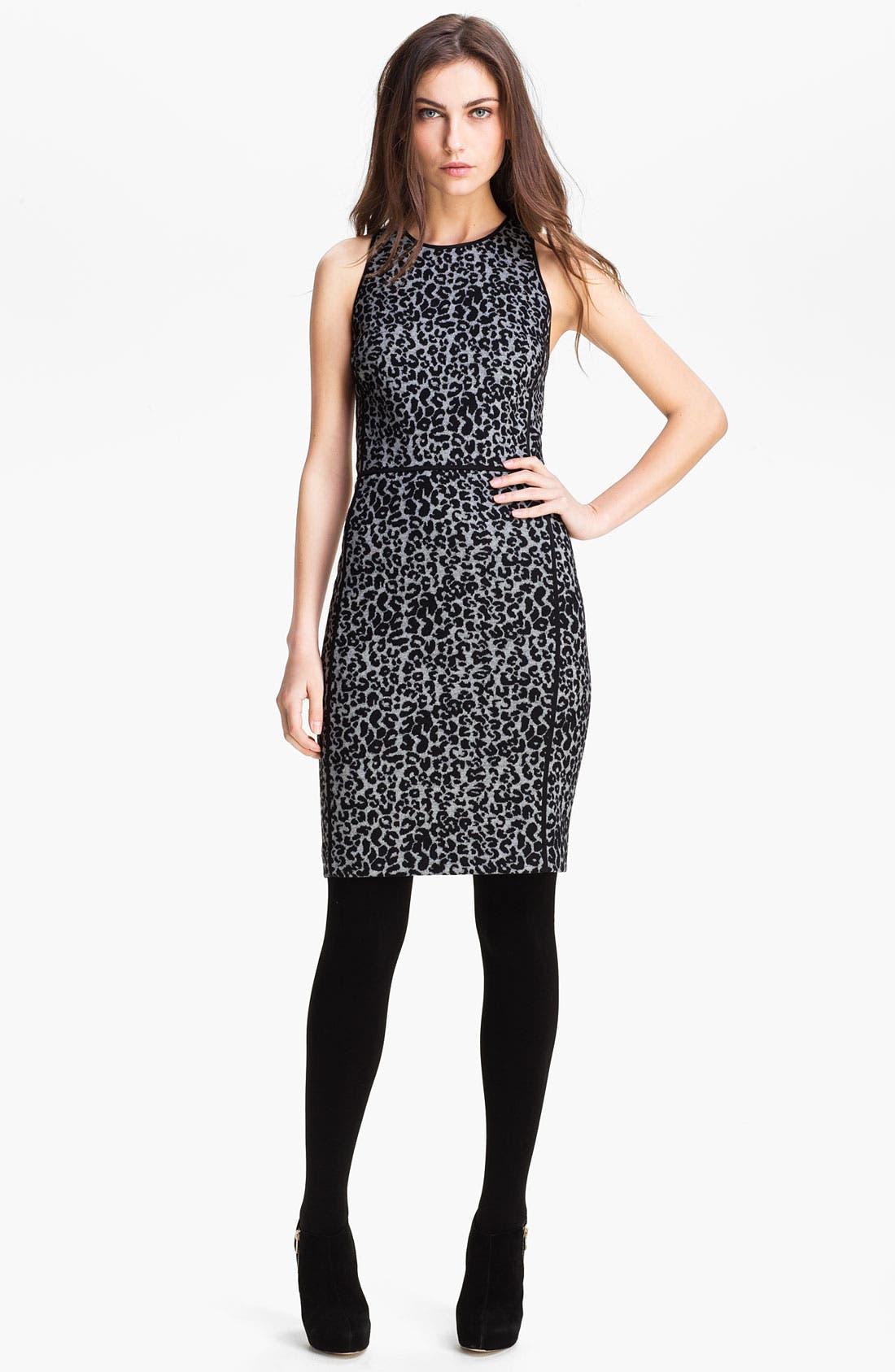 Alternate Image 1 Selected - Rebecca Taylor Knit Sheath Dress