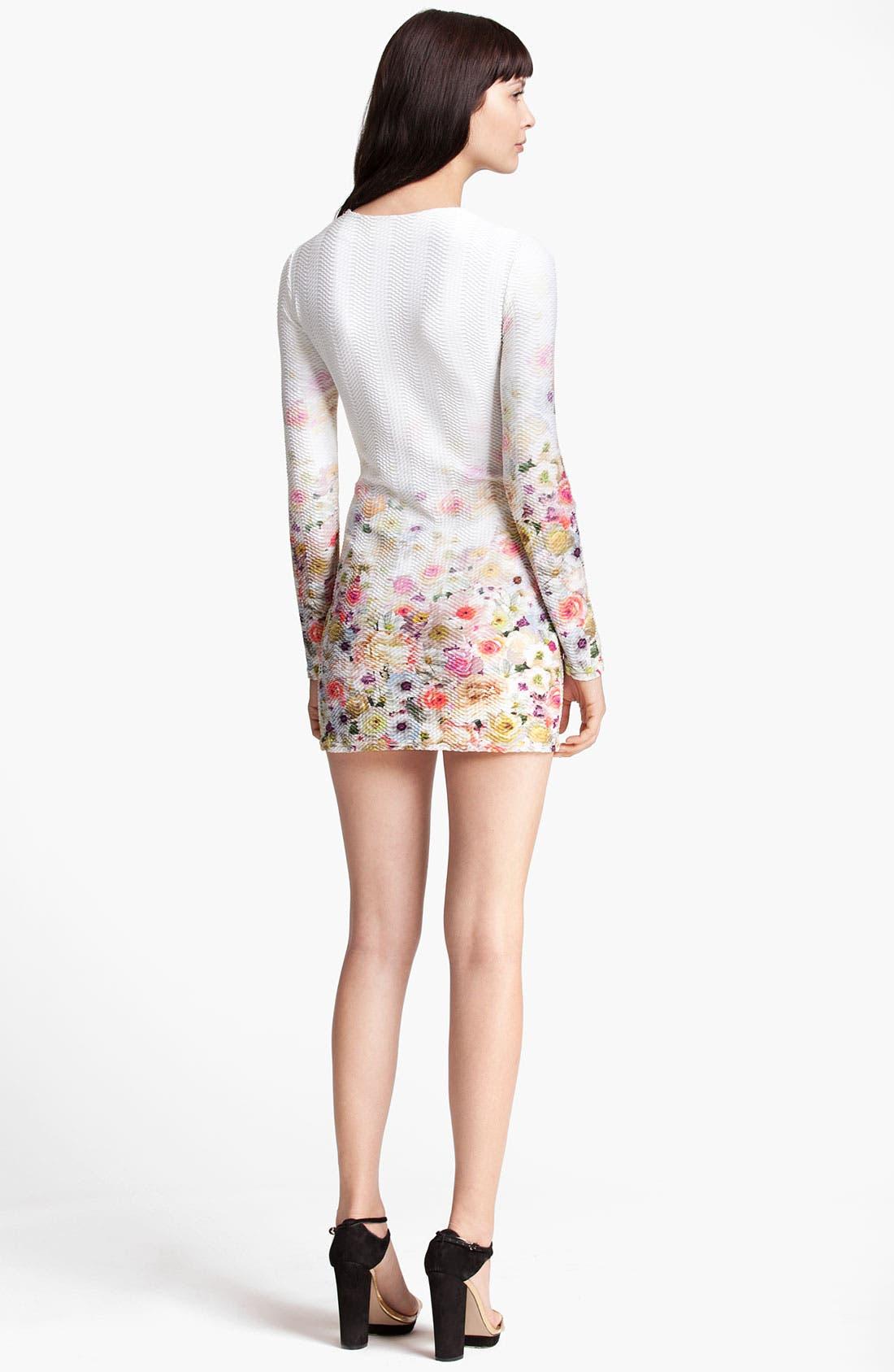 Alternate Image 2  - MSGM Floral Print Sheath Minidress