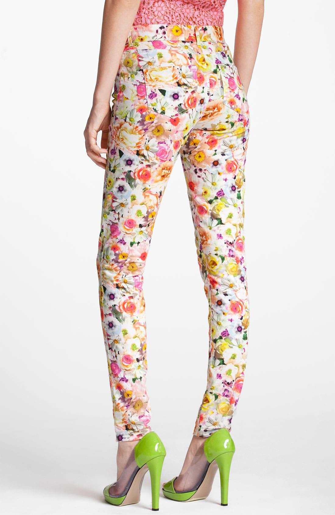 Alternate Image 2  - MSGM Floral Print Skinny Jeans