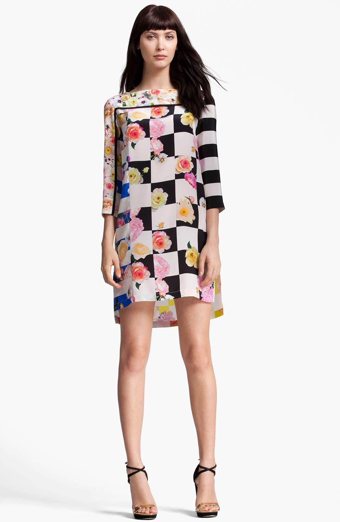 Main Image - MSGM Mixed Print Silk Dress