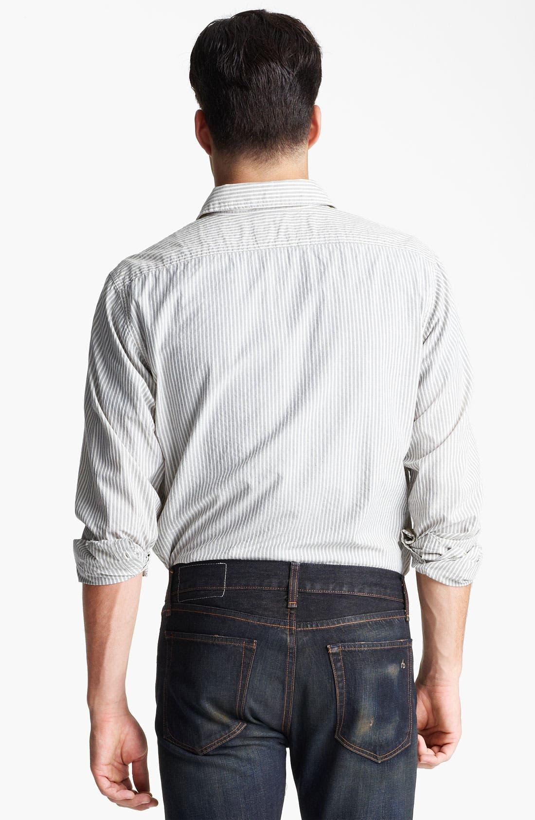 Alternate Image 2  - rag & bone Stripe Woven Shirt
