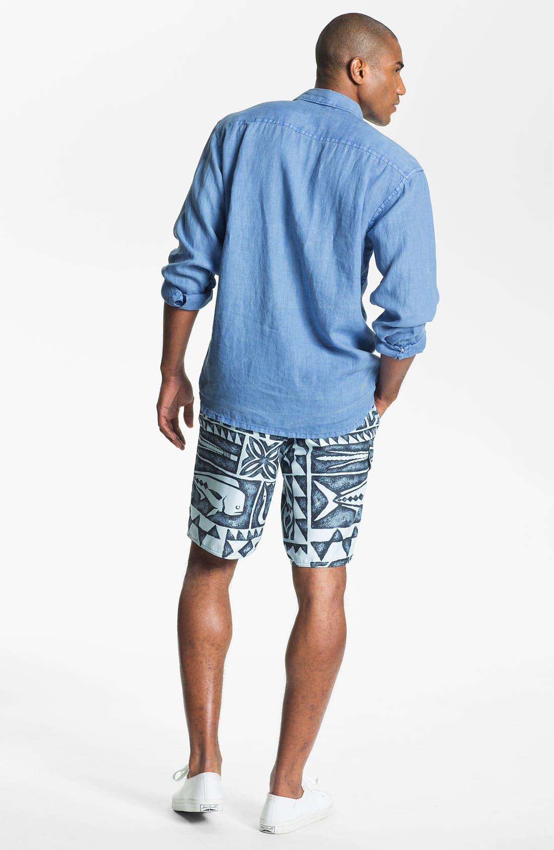 Alternate Image 3  - Tommy Bahama Sport Shirt & Quiksilver Board Shorts