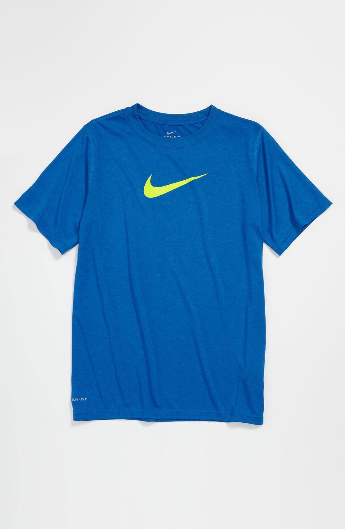 Alternate Image 1 Selected - Nike 'Legends' Dri-FIT Crewneck T-Shirt (Big Boys)