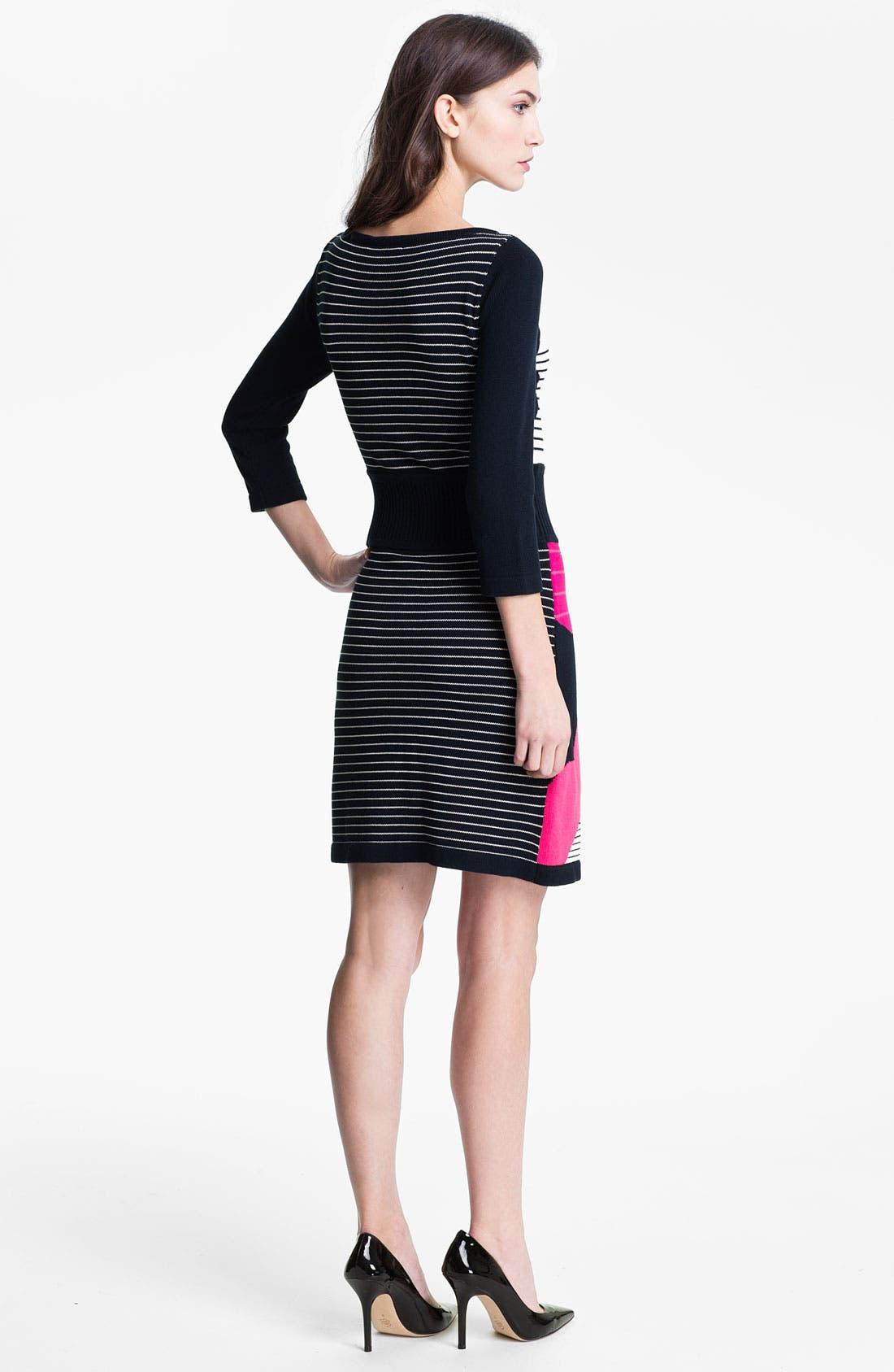 Alternate Image 2  - Nanette Lepore 'Cartoonist' Cotton Blend Sweater Dress