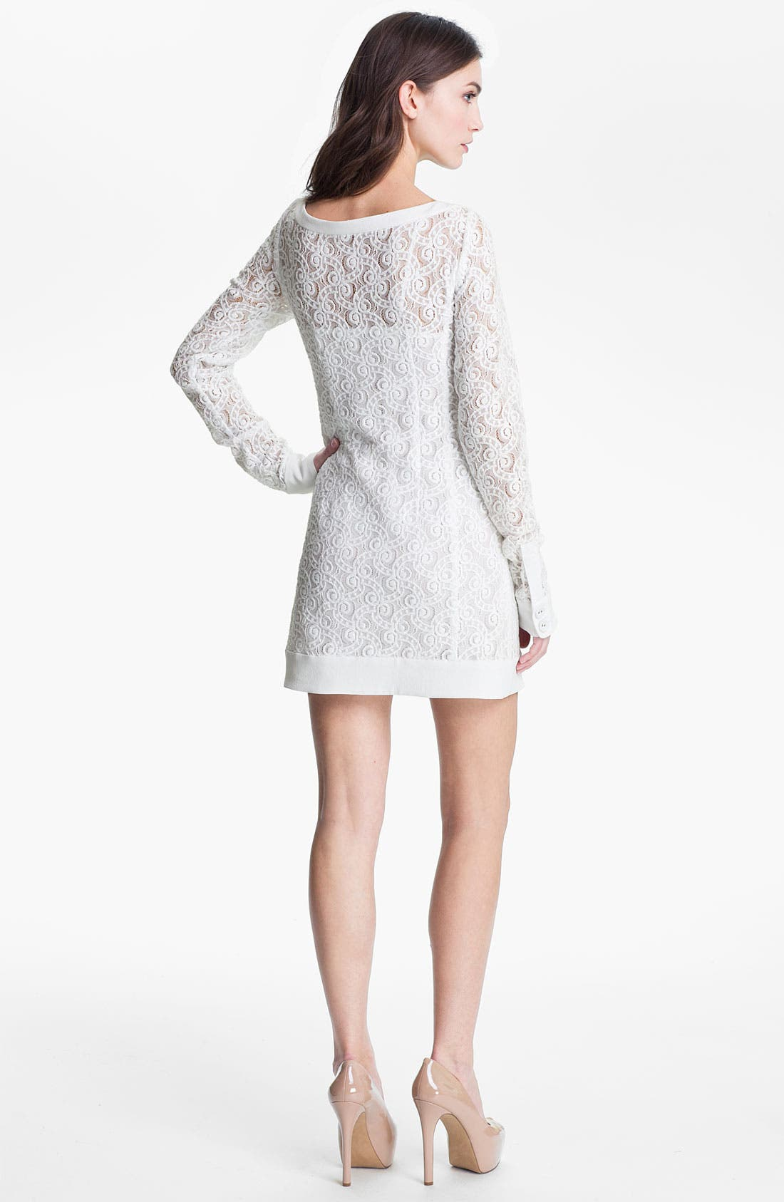Alternate Image 2  - Nanette Lepore 'Lithograph' Lace Shift Dress