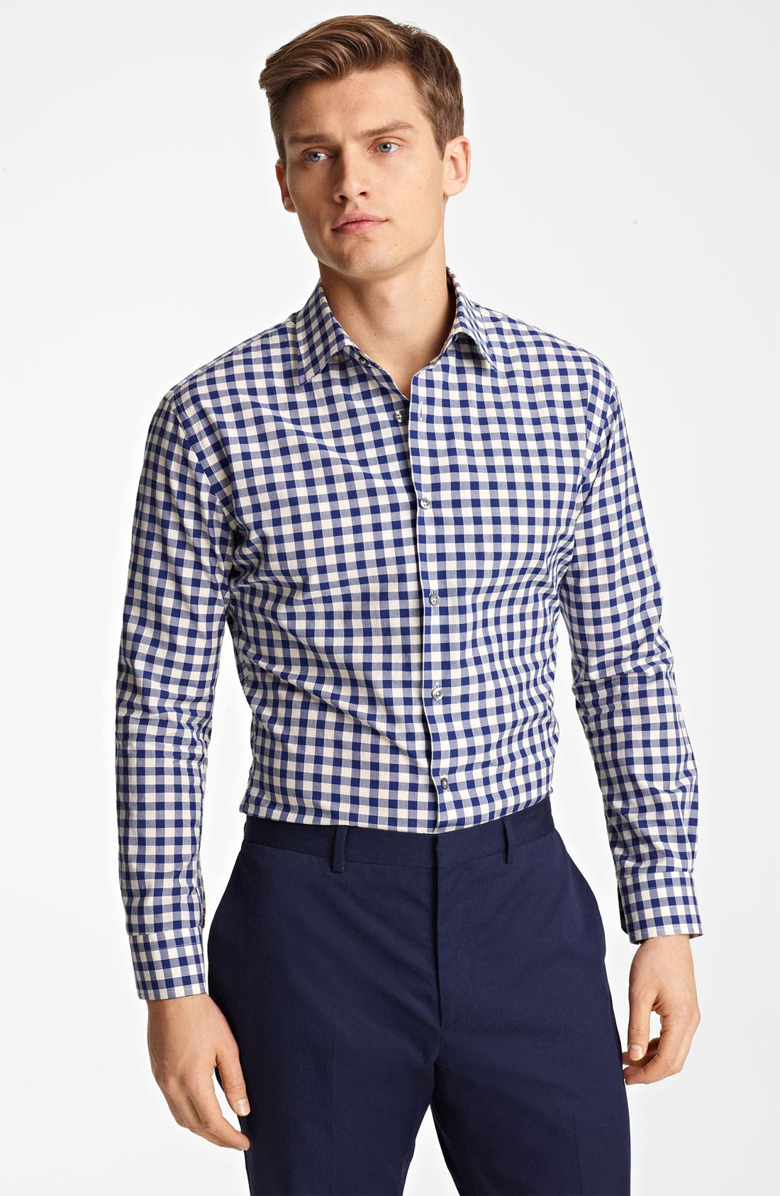 Alternate Image 1 Selected - PS Paul Smith Large Gingham Shirt