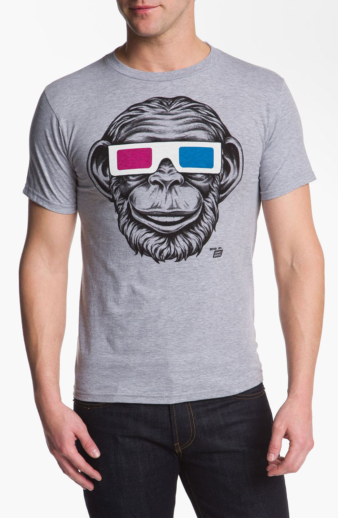 Alternate Image 1 Selected - Ames Bros Trim Fit Crewneck T-Shirt (Men)