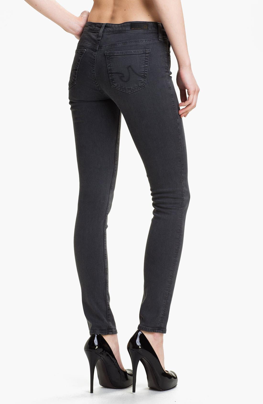 Alternate Image 2  - AG Jeans 'The Legging' Super Skinny Jeans (Grey)