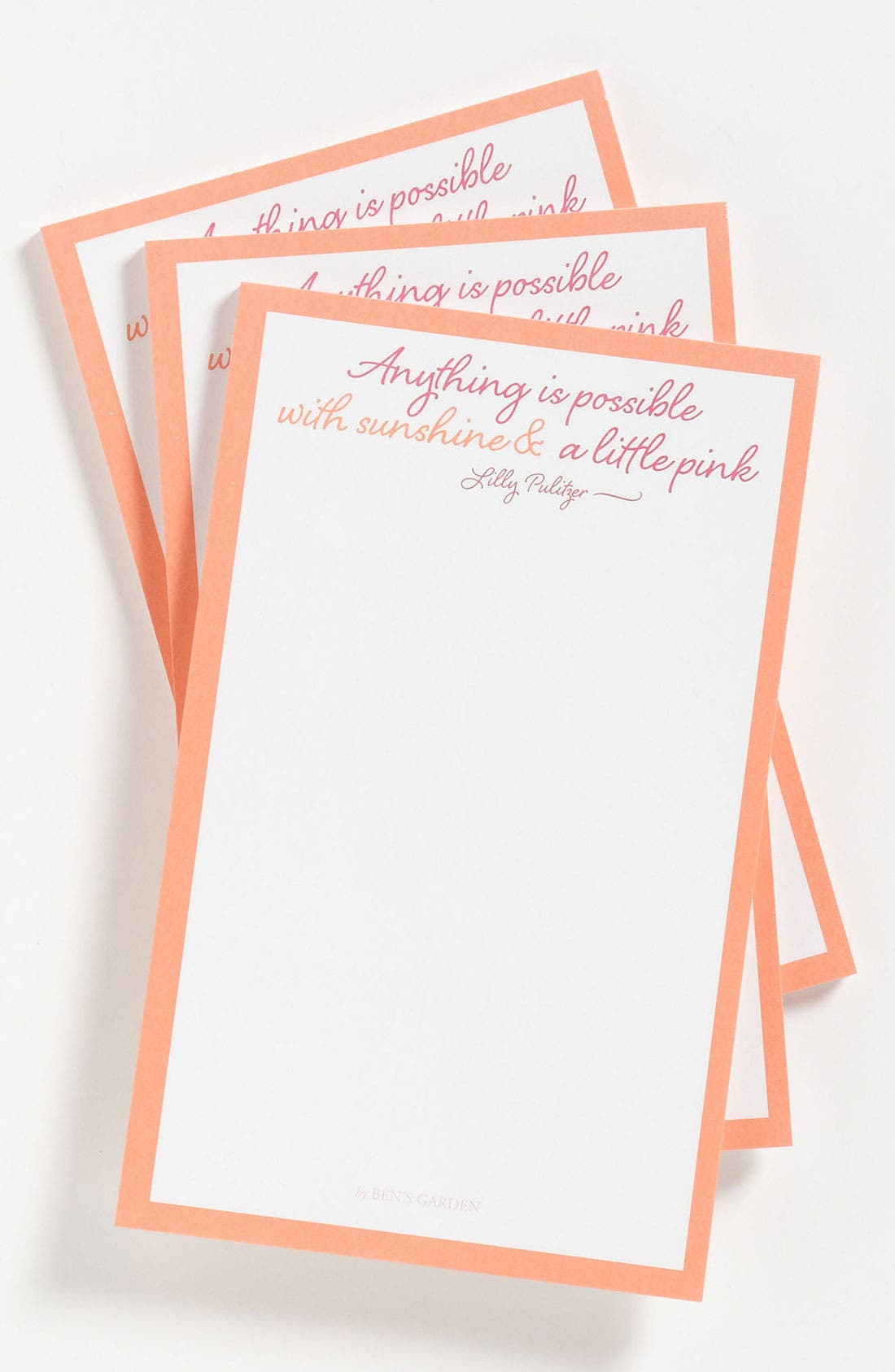 Alternate Image 1 Selected - Ben's Garden 'Anything Is Possible' Notepads (3-Pack)
