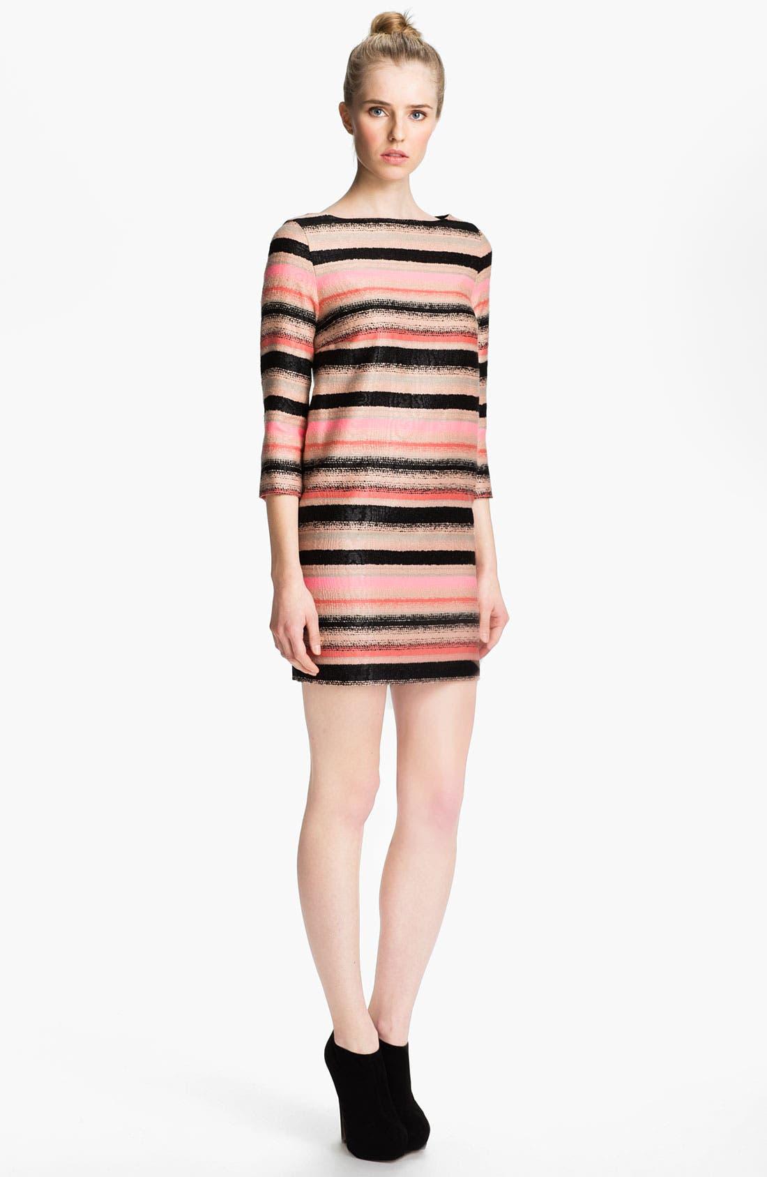 Alternate Image 1 Selected - MSGM Stripe Tweed Shift Dress