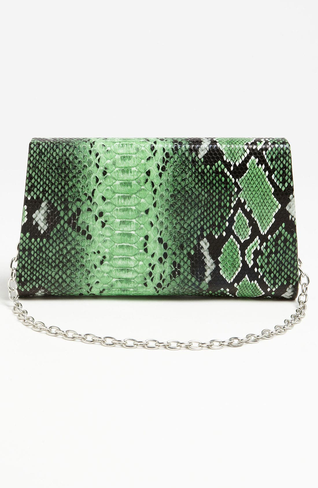 Alternate Image 4  - Natasha Couture Foldover Snake Embossed Clutch