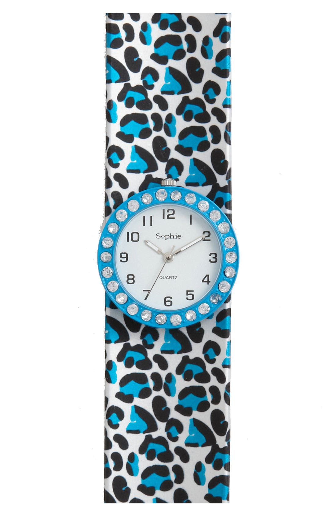 Alternate Image 1 Selected - Titanium 'Rhinestone' Slap Watch (Girls)