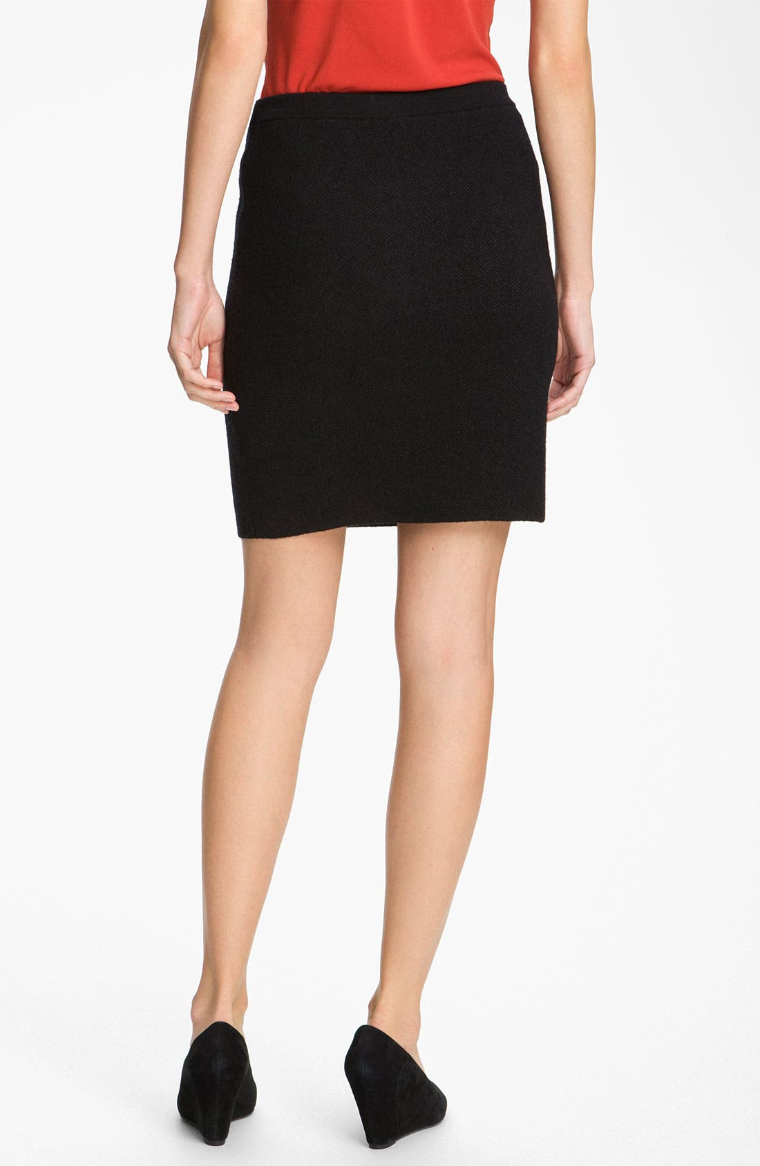 Alternate Image 2  - Eileen Fisher Pull-On Wool Blend Skirt (Petite)