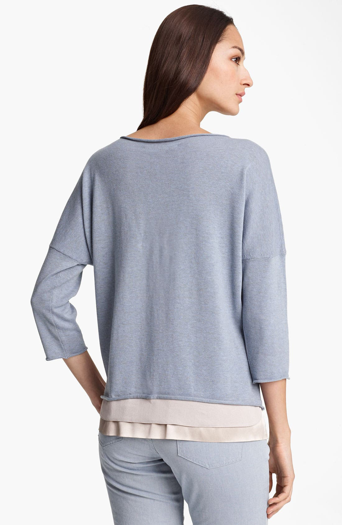 Alternate Image 2  - Fabiana Filippi Crepe Hem Knit Top