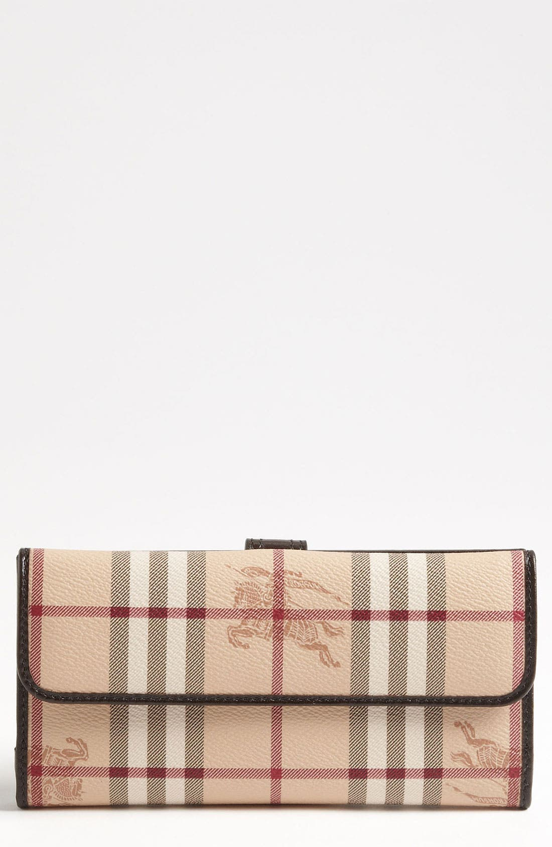 Main Image - Burberry 'Haymarket Check' Checkbook Wallet